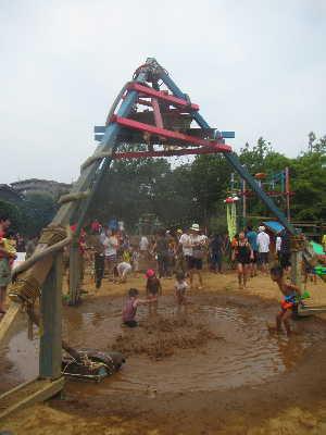 (写真)三角形の頂点から水が降ってきた!
